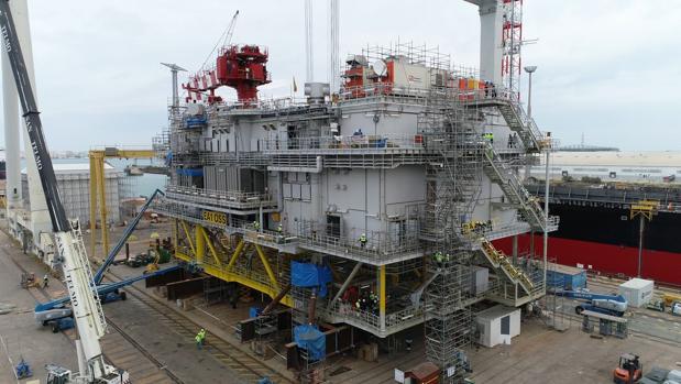 Navantia entrega a Iberdrola la mayor subestación eléctrica marina del mundo