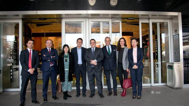 Firma de la alianza entre El Corte Inglés y Alibaba