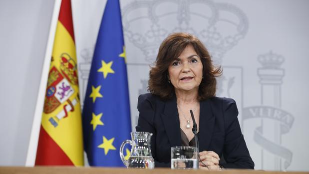 La vicepresidencia del Gobierno y ministra de Igualdad, Carmen Calvo