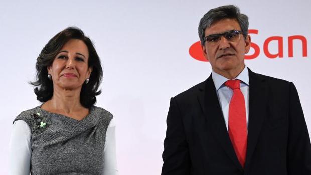La presidenta del Banco Santander, Ana Botín, y el consejero delegado del grupo, José Antonio Álvarez