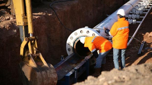 Imagen de archivo del gasoducto Medgaz que une Argelia con España