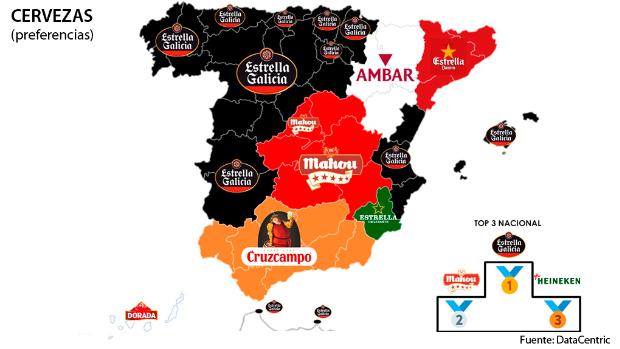 Los mapas de las marcas favoritas de los españoles en 2020 en cada comunidad autónoma