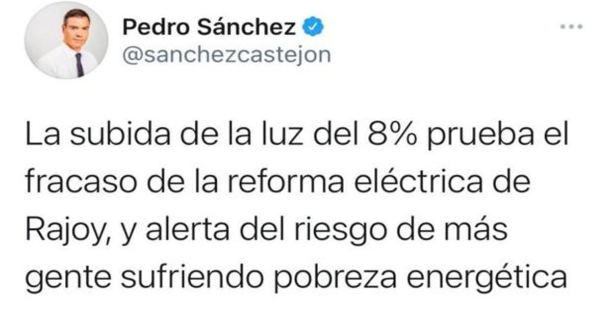 ¿Por qué el Gobierno puede bajar el recibo de la luz y no lo hace? Sanchez-k7lB--1200x630@abc