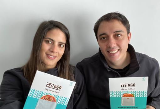 María Bragado y Víctor Oliva, cofundadores de la startup Celi&Go