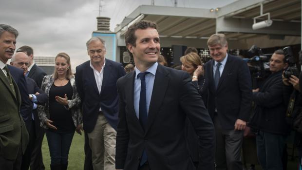 Pablo Casado durante la presentación de los candidatos del PP a las elecciones europeas