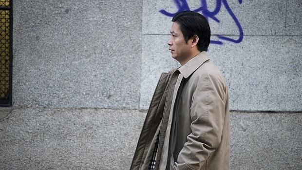 Gao Ping acudiendo a la Audiencia Nacional Madrid hace dos años