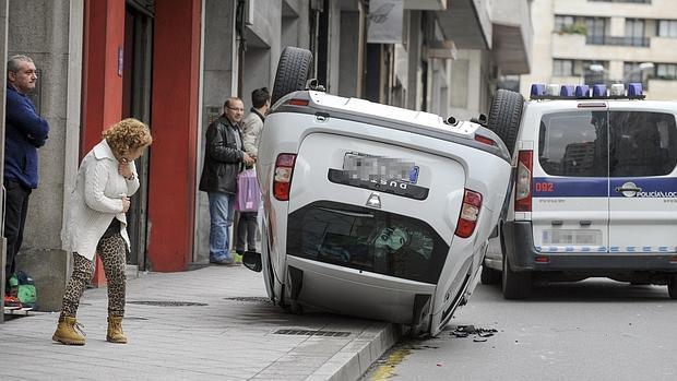 Un reciente accidente de tráfico ocurrido en Orense