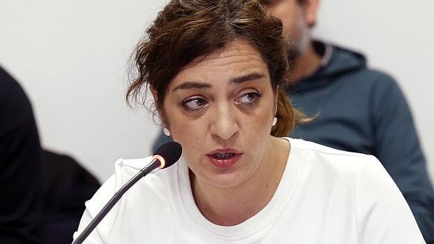 La edil responsable del área de Cultura en el Ayuntamiento de Madrid, Celia Mayer, este viernes en la comisión del ramo