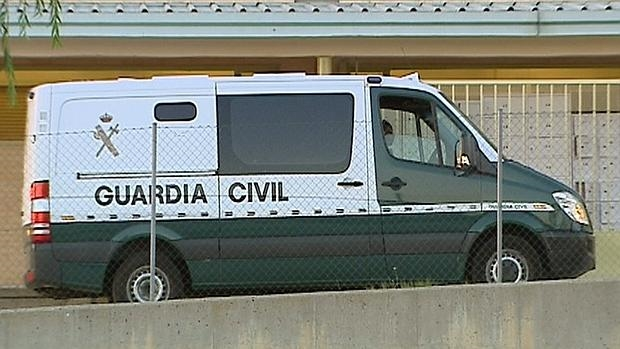 Furgón que trasladaba a Granados y Marjaliza a la prisión de Soto del Real en 2014