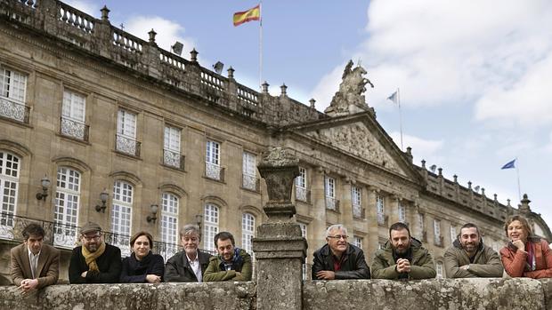 Imagen de Joan Ribó durante su viaje a Galicia