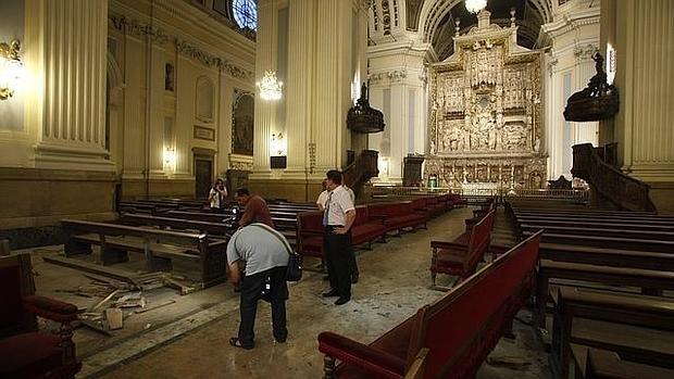 Imagen de la Basílica después de la explosión