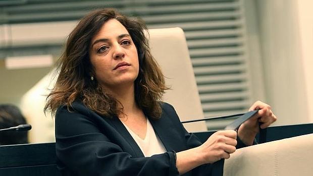 Celia Mayer en el Pleno del Ayuntamiento de Madrid