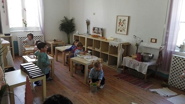 Aula Montessori en el centro infantil Cocoricó, en Valladolid
