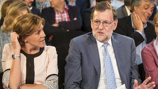 María Dolores de Cospedal y Mariano Rajoy