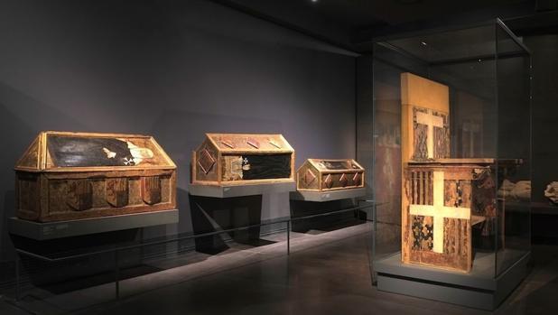 Piezas del monsterio de Sijena depositadas en el Museo de Lérida