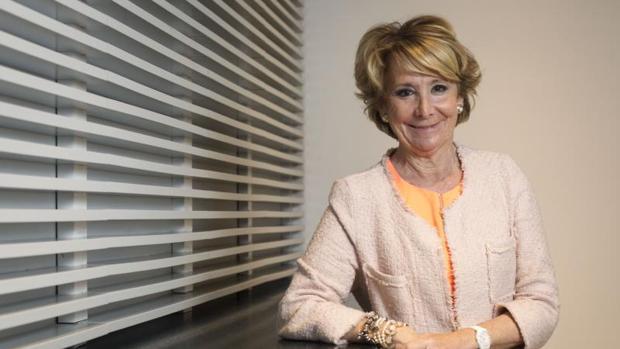 La portavoz del PP en el consistorio madrileño, Esperanza Aguirre