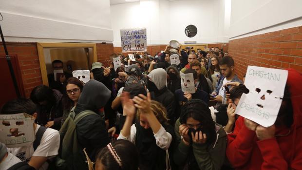 El escrache de ayer en la Autónoma