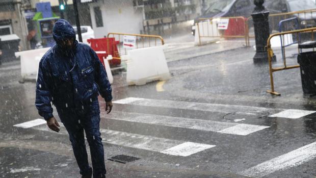 Imagen del temporal que afecta a la Comunidad Valenciana