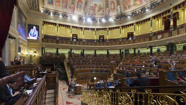 Imagen del hemiciclo en el Pleno celebrado la pasada semana en el Congreso de los Diputados