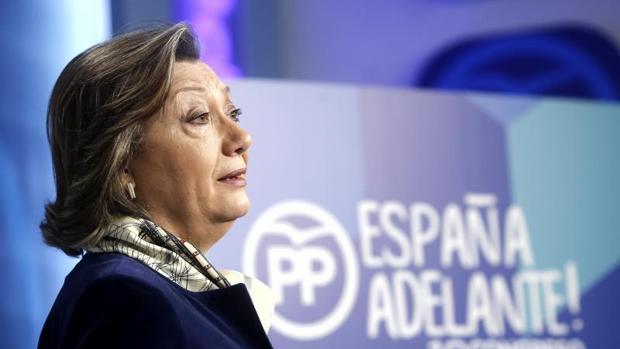 La presidenta del XVIII Congreso del PP, Luisa Fernanda Rudi