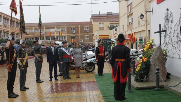 Homenaje a los caídos, el 12 de octubre de 2016, en la comandancia de Toledo