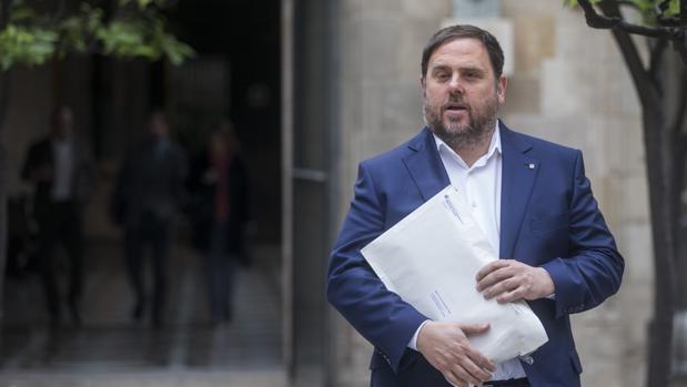 Imagen del vicepresidente catalán y líder de ERC, Oriol Junqueras