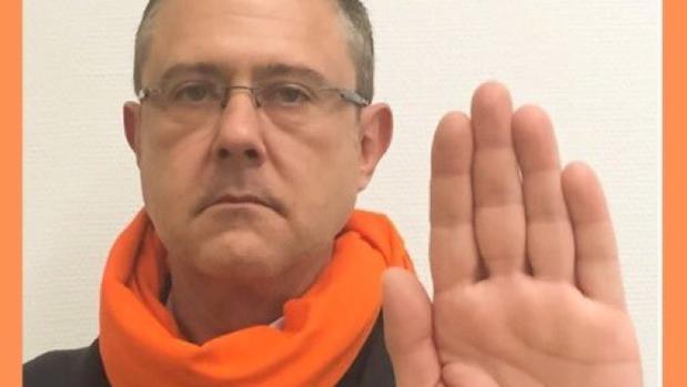 José Manuel Yáñez, en la campaña contra maltrato de 2015