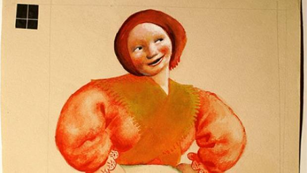 Castelao dibujó los figurines de la pieza teatral «Os vellos non deben de namorarse»