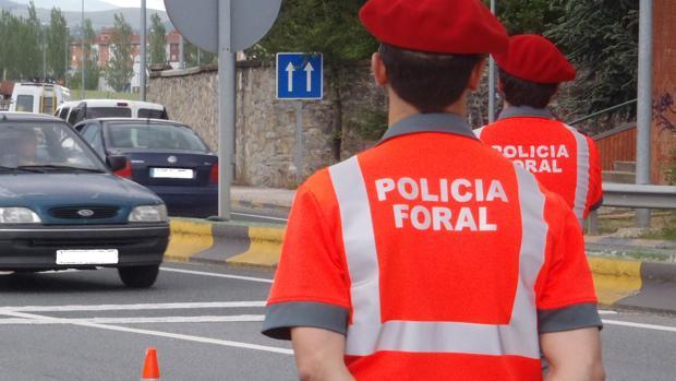 Agentes de la Policía Foral de Navarra