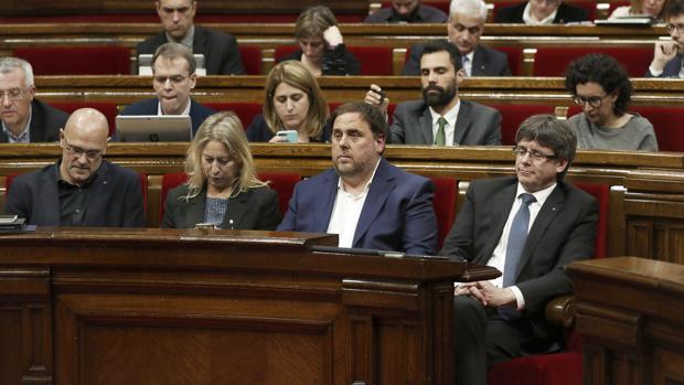Raül Romeva, Neus Munté, Oriol Junqueras y Carles Puigdemont