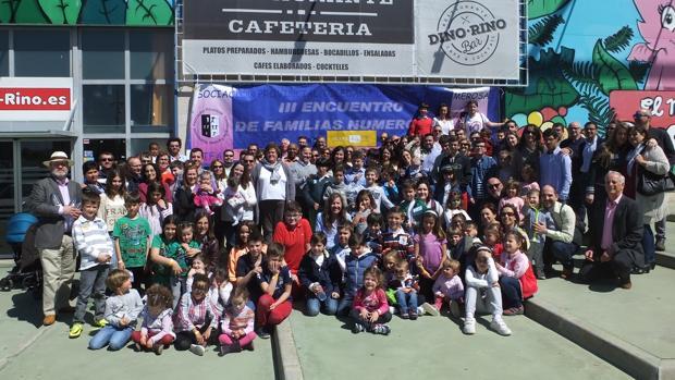 Las familias numerosas pasaron un día de fiesta en las instalaciones de Dino Rino de Puerta de Toledo