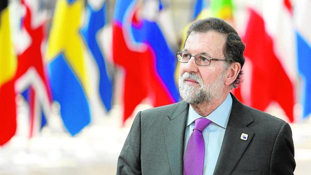 El presidente del Gobierno, Mariano Rajoy, el sábado pasado en el Edificio Europa, de Bruselas, al llegar al Consejo Europeo de los 27