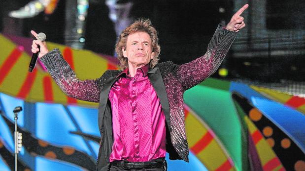 Mick Jagger, durante una actuación de la banda britanica