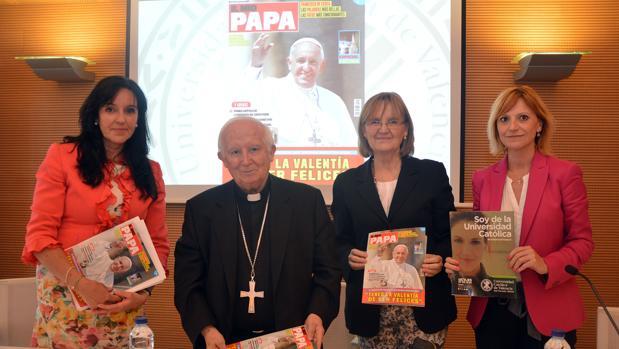 El cardenal Cañizares, durante el acto de presentación de la revista