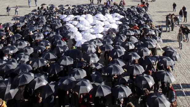 Acto contra la violencia de género en Santiago
