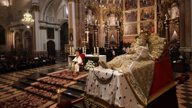 Imagen de la ceremonia celebrada por el cardenal Cañizares con motivo de la fiesta de la Asunción