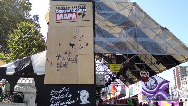 Una txosna (caseta) de Bilbao
