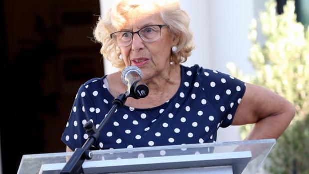 La alcaldesa de Madrid, Manuela Carmena, en un acto público reciente