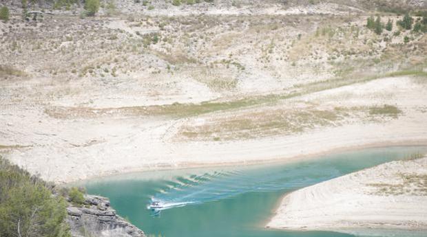 El embalse de Entrepeñas, en Sacedón, en una imagen reciente