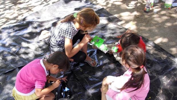 Grupo de niñas que participan en el proyecto social del Ayuntamiento de Zamora