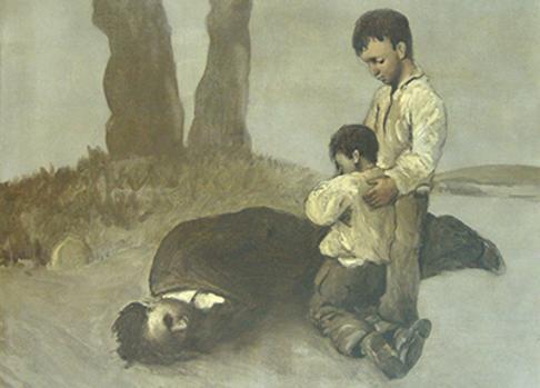 Fragmento de la obra «A derradeira lección do mestre»