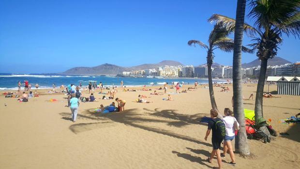 Playa de Las Canteras, este jueves