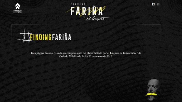 La web de la campaña #FindingFariña informa de su cierre