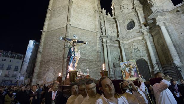 Imagen del Via Crucis en la Catedral de Valencia
