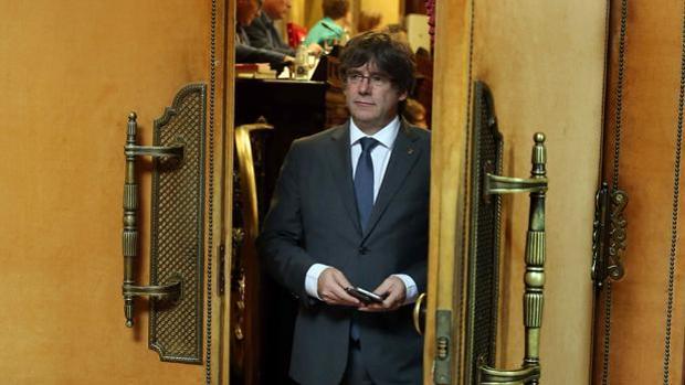 Carles Puigdemont, en el Pleno