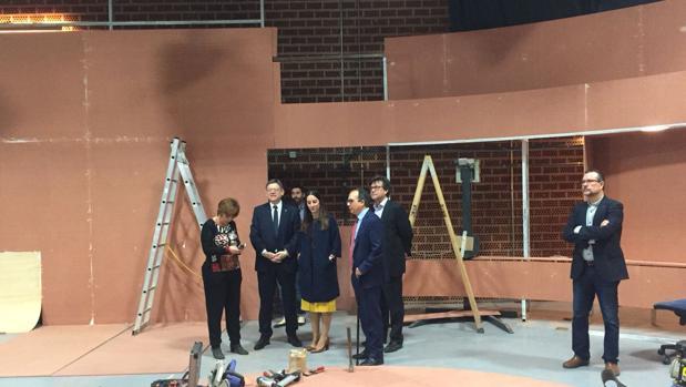 Imagen de Ximo Puig con los responsables de À Punt tomada este miércoles