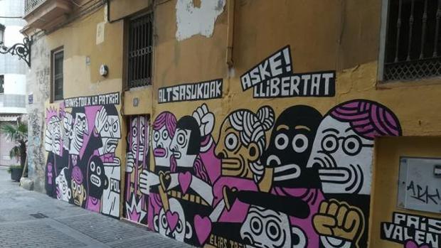 Imagen del mural de Elías Taño antes de ser eliminado