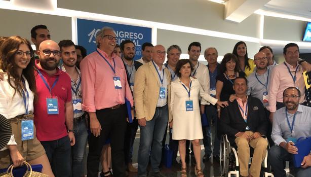 Santamaría, con los compromisarios del PP de Valladolid