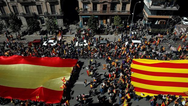 Manifestación de SCC en Barcelona, marzo de 2018