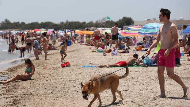 Imagen de la playa de Pinedo en Valencia